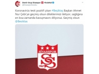 Sivasspor'dan Ahmet Nur Çebi'ye Geçmiş Olsun Mesajı